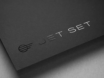 Jet Set Logo identity design design logodesign foil branding oklahoma logo