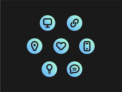 Icon Set portfolio flat line design icon icon set icons