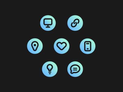 Icon Set portfolio flat line design icon icon set icons