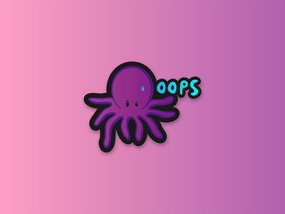 """Awww you made me ink..."" animal sticker illustration octopus"