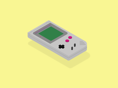 Gameboy nintendo illustration isometric design isometric old school throwback console gaming gameboy