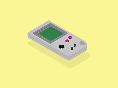 Gameboy nintendo illustration isometric design isometric old school throwback console gaming gameboy