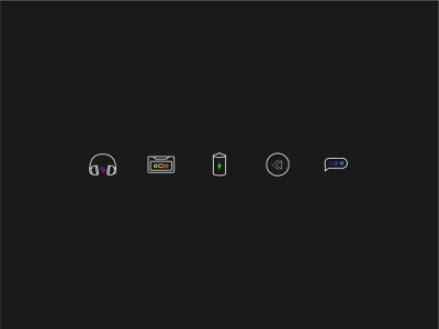 Album Covers illustration spotify icons