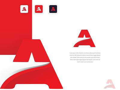 Modern A Letter Logo Design icon typography logo graphic design branding vector ui ux illustration design