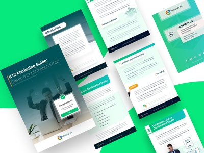 K12 Marketing Guide: Create a Confirmation Email guide article ebook app typography logo graphic design branding vector ux ui illustration design