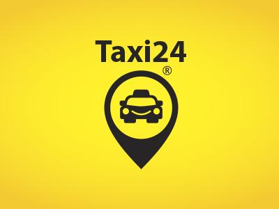 Taxi24 branding identity logotype pin taxi