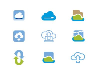 Cloud Isotype study cloud upload icon iso isotype