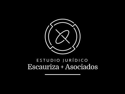 E.J.E. - Estudio Jurídico Escauriza + Asociados identity logotype lawyer law balance axis