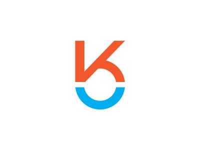 Another K cyan blue orange logotype k identity