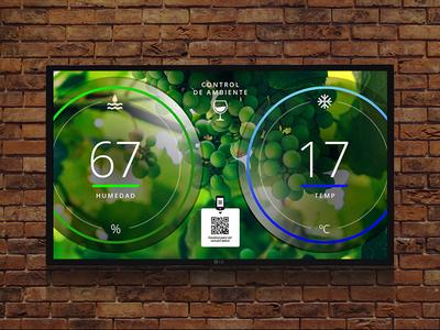 Wine Cava information screen cava wine signage digital ux ui
