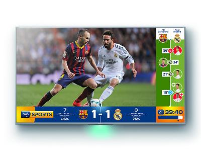 Tigo Sports Info-system sports interface design ui  ux