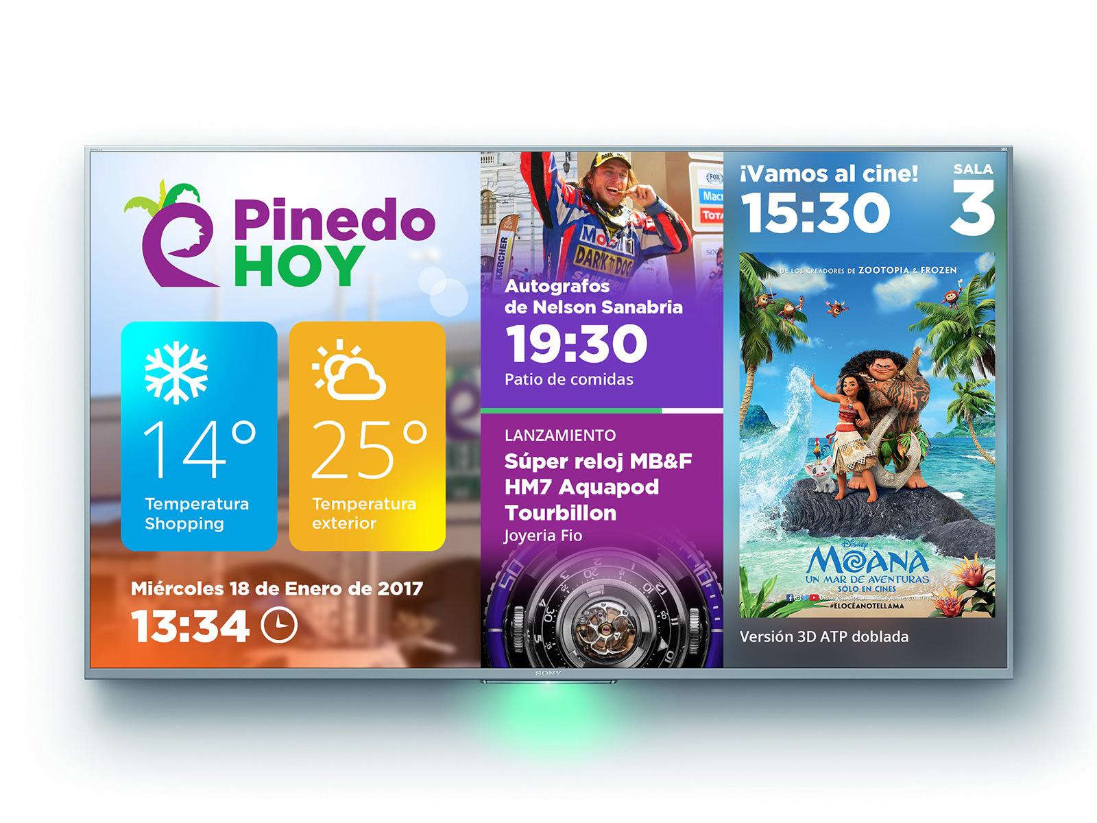 Pinedo digital signage 4x