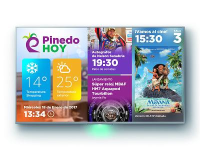 Shopping Pinedo Digital Signage ux digital signage ui