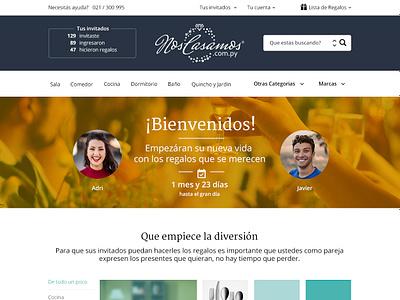 NC wedding gift site ux design uidesign marriage couple love wedding