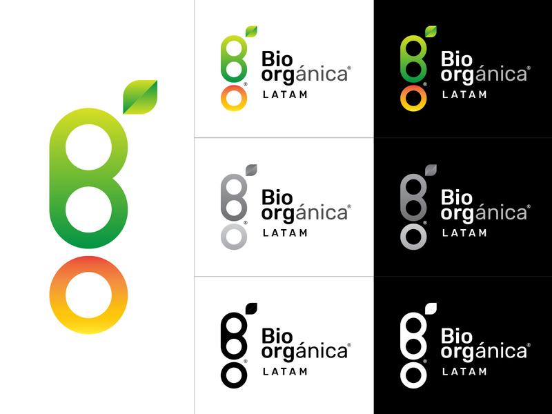 Bio-orgánica LATAM alternative colors corporate identity logotype identity