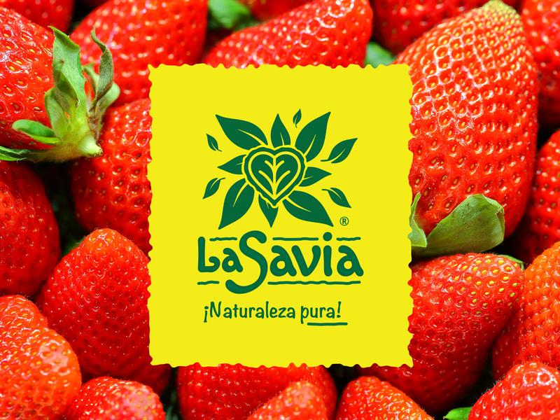 La Savia Organic Fruits and Vegetables natural leaf organic nature logo nature illustration logotype identity