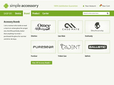 Simple Accessory Nav Comp ux navigation web design