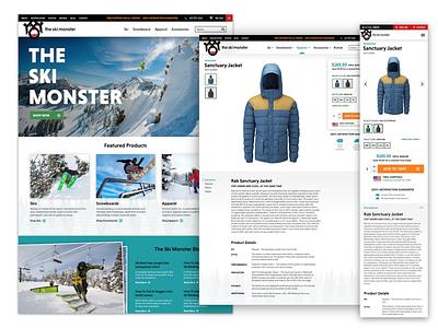 The Ski Monster ui ecommerce brand web design