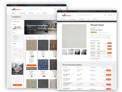 Solid Surface Magento 2 Redesign ui art direction web design ecommerce magento