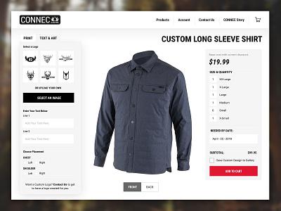 Connec Outdoors Shopify Site Design ui shopify plus shopify ecommerce web design