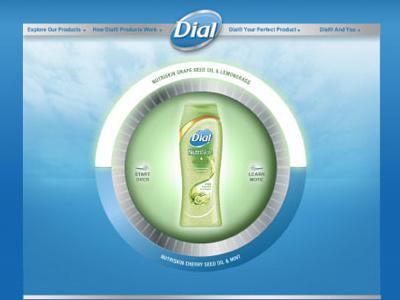 Dial Soap soap website dialsoap ux clean blue ui dial product