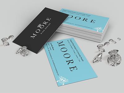 Moore Ring Design brand classy logo identity business cards diamonds jewelry