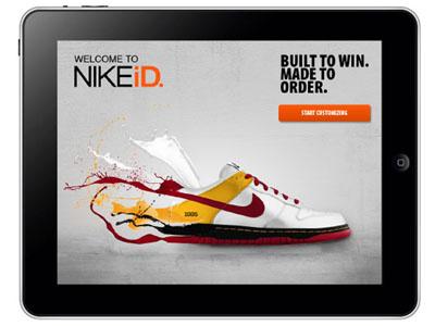 Nike nike tablet ipad shoes visual design uiux illustration