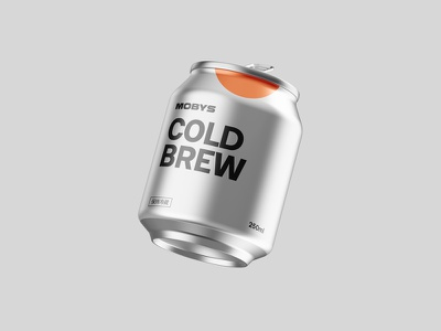 Cold Brew Coffee Can package packaging product cafe aluminum drink coffee can mockup