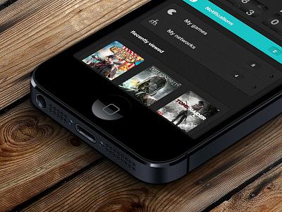 Gamehub iphone app dark grey noise covers games