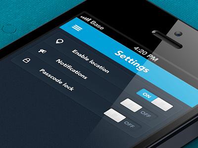 Settings settings iphone ui app