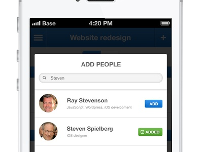 Popup iphone app popup people project