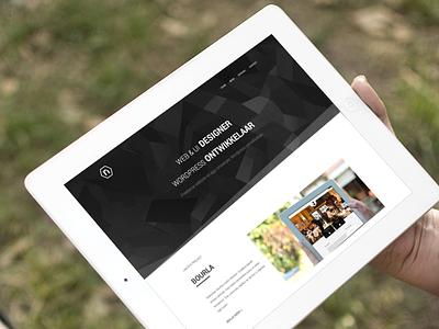 Website portfolio polygon black white