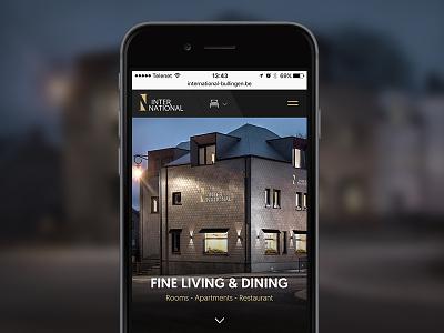 International restaurant hotel responsive website