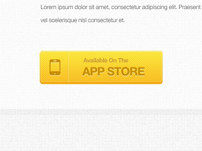 App Store Button appstore button yellow
