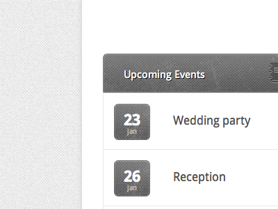 Upcoming Events date events web grey grunge