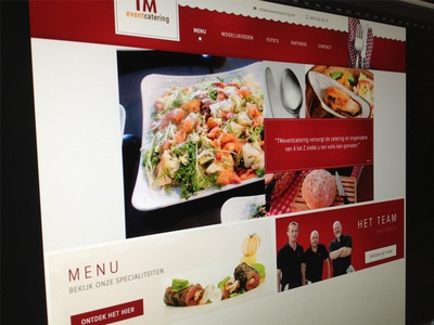 Event Catering website red flags menu team food fork knife