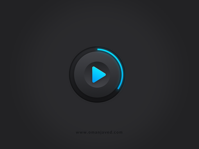 Play button in Sketch app oman javed glow interface play icon dark