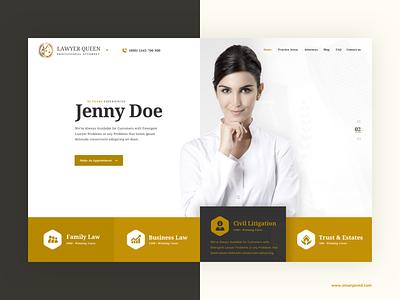 Lawyer Template minimal design digital mockup ux ui web design oman javed clean redesign website ux design ui interface lawyer landingpage creative
