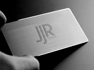 Metal Business Card logo business card