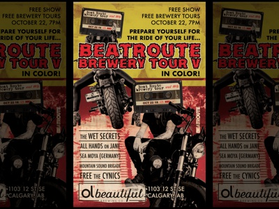 Beatroute Brewery Tour V - Gig Poster poster poster design gig poster