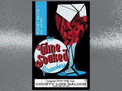 Wine Soaked Preachers' Gig Poster design poster design gig poster