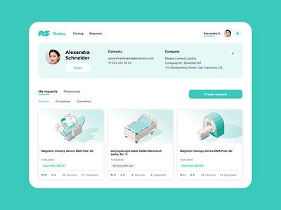 Medical Market Design clean minimalist healthcare medical trading app trading platform trading e-commerce