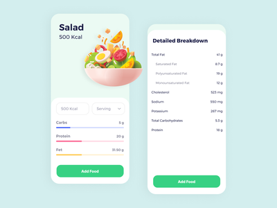 Nutrition Tracker design iphone clean app ios health app nutrition app ui tracker