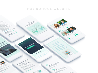 Psy School Promo design mobile school psychology promo