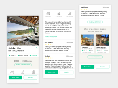 Airbnb's Luxury Retreats iOS Concept