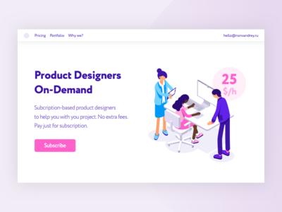 Product Design Promo Illustration