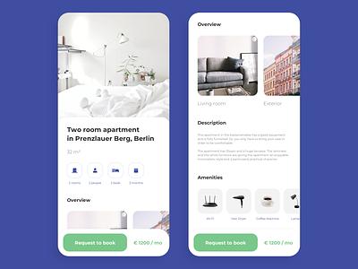 Wunderflats iOS App white ui clean ui clean interior design minimalist iphone airbnb book booking interior ios wunderflats
