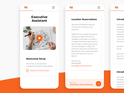 Playbook Mobile uiux ui todo wiki assistant play company work apple orange clean ios app intro onboarding