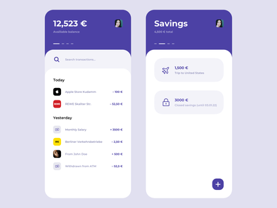 Banking Interface search saving bank card smooth round rounded design ui ios app clean apple bank app banking app banking