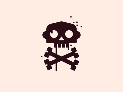 INK MONKEYS Squad logo gangsta skull monkey branding logo design character flat vector illustration